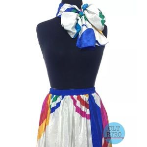 Mr. Mort Retro Skirt w Matching Sash / Scarf